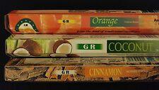 CUPCAKES Coconut Cinnamon Orange 60 GR Incense Sticks 3 Scent Sampler Gift Set