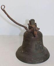 Orig. antike XXL Tiroler Bronze-Dachglocke für Glockenstuhl ~1800 verziert TOP !