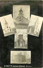 A Trip To Sugar Grove OH, Multiview RPPC 1910