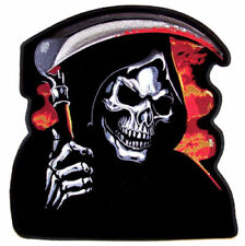 Huge 12 inch Grim Reaper W Death Scythe Patch Jbp52 embroidered biker patches