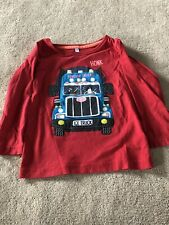 Boys M&S Red Polar Ice Truck Jumper Age 2-3 Years - 100% cotton Good Condition