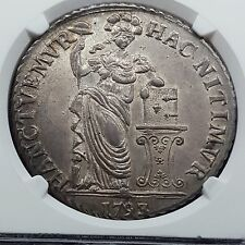 1793 Netherlands 3 Gulden West Friesland MS62 NGC Dav-1853 RARE Grade!