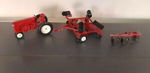 Alter Ertl Co. Metal Trecker Traktor Schlepper mit Zubehör USA  1:16