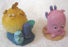 Disney Store FINDING NEMO Figurine Doll Cake Topper Lot Blowfish Pink Octopus