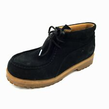 Mens GBX Xtreme Black Suede Lace Up Chukka Ankle Boots Size 10.5M