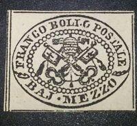 ANTICHI STATI Stato Pontificio 1/2 baj n.1 lilla nuovo * MLH