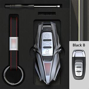 Zinc Alloy Car Remote Key Fob Cover Case Keychain Bag For Audi A4 A3 A5 A6 Q5 TT