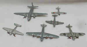 Job Lot Of 6 Vintage Dinky Toys Aircraft - Made In England