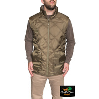 NEW BANDED GEAR REVERSIBLE GOOSE DOWN VEST QUILTED BROWN / SWEATER w/ b LOGO
