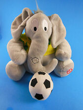 "Hallmark Soccer 7"" Elephant Plush with Sound  and Emerson # 10 shirt  HTF"