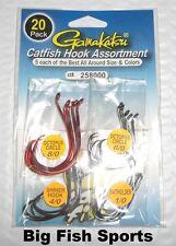 GAMAKATSU #258000 Catfish Hook Assortment- 20 Hooks (8/0, 6/0, 4/0, 1/0) NEW!