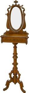 17324 Victorian Walnut Carved Gentleman's Shaving Stand