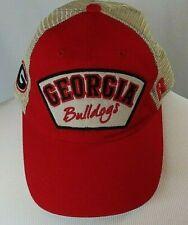 Georgia Bulldogs  Meshback Adjustable Snapback Cap Hat