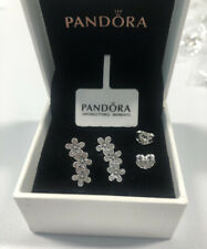 Genuine Silver Pandora Daisy Flower Stud Earrings New With Box 290744CZ