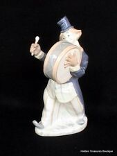 Rex Valencia Porcelain Clown Playing Drum Figurine Spain