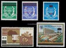 Belgisch Congo Belge  Rep du Zaïre n° 912/916 MNH Recup set Overprinted c18.00Eu
