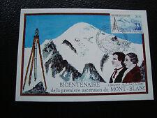 FRANCE - carte 1er jour 8/8/1986 (1ere ascension du mont blanc) (cy59) french