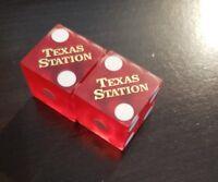 Texas Station Casino Matching Numbers Pair of Las Vegas Dice