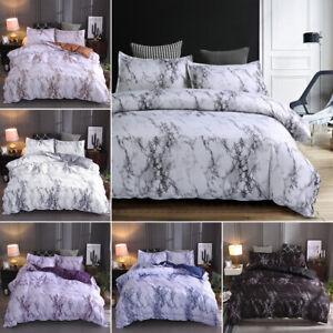 3 Pieces Marble Printed Comforter / Duvet Cover Set Queen King Bedding Quilt Set