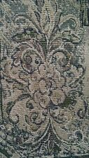 Grey Rococo Design Tapestry Upholstery Quality Home Decor Fabric 1 Yard NEW