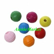 40 x wooden wood painted beehive beads 14mm x 13mm mixed colours jewellery craft