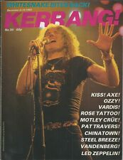 KERRANG! #30 DEC 1982: WHITESNAKE Slade PAT TRAVERS Kiss MOTLEY CRUE Tom Petty