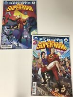 NEW SUPER-MAN #1 & #1 VARIANT DC UNIVERSE REBIRTH COMIC BOOK SUPER HERO