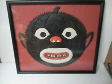 "Very Old Germany Halloween Diecut - Black Jol Pumpkin Face - 15 3/4"" x 13 1/4"""