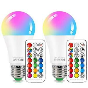 LED Color Changing Light Bulb with Remote Control,10W E26 RGB+Daylight White LED