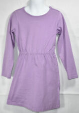 Girls BOUTIQUE HANNA ANDERSSON LIGHT PURPLE Long Sleeve DRESS Sz 120 6 7 Years