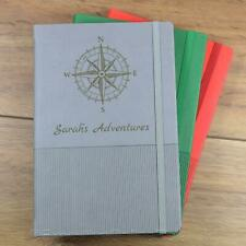 Personalised Notebook - A5 Travel Journal, A5 Notebook, Bullet Journal - Compass