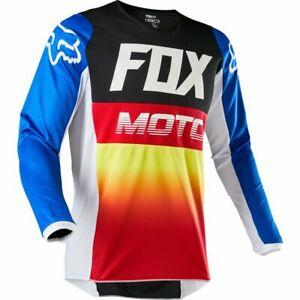 FOX RACING 180 MOTOCROSS MX BIKE MTB JERSEY - FYCE BLUE RED