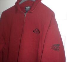 EVIAN Water 2002 US OPEN Tennis Sweatshirt ROOTS ATHLETICS 1/4 Zip Up Red Canada