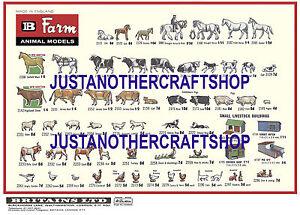 Britains Models Farm Animals 1966 Large A3 Size Poster Advert Leaflet Shop Sign