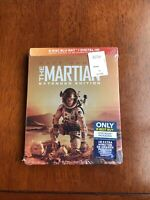 NEW The Martian (Blu-ray Disc, 2016, Includes Extended Edition) Steelbook