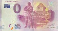 BILLET 0  EURO SCHLOSS BURG 3  2017 NUMERO 5000 DERNIER BILLET