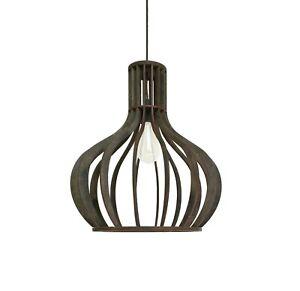 Orb wood chandelier Cage pendant light Dining room lighting Wooden light fixture