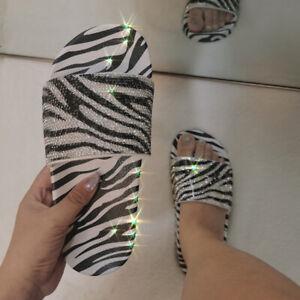 Womens Summer Comfort Flat Sandals Sliders Slippers Platform Shoes Mules Causal
