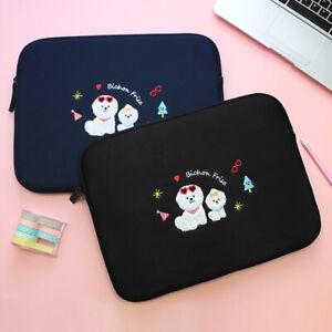 "Bichon Frise Dog 13"" Neoprene Laptop Tablet Notebook Sleeve Pouch Clutch Bag"