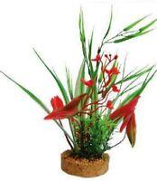 Decorazione pianta finta PHYTOS 2 cm 7x7x24h per acquario dolce o marino