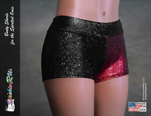 NEW! Harley Quinn Dany Inspired Combo Black/Red Booty Shorts!