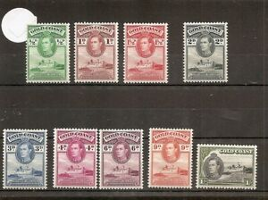 Gold Coast 1938  SG120-8 9v of set M/M George VI Defins as pic up to 1/-