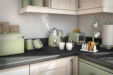 Swan Stylish Kitchen Retro GREEN 3kW, 1.5L Kettle,w Temperature Dial, Fast Boil