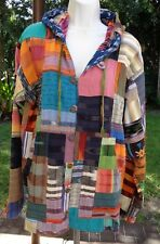 Very Striking Patchwork Style Handmade Cotton Jacket by FreakNChic Fashions Md