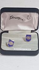 Stratton of London Shield Shaped Cufflinks Boxed London Coat of Arms No40