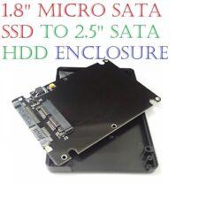 """1.8'' Micro SATA SSD To 2.5"""" SATA  HDD Converter Adapter Card Enclosure Case"""