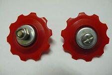 Two(2) Universal Derailleur /Gear Pulleys/Jockey Wheels Set 10T fits Shimano Red