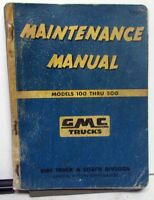 1955 only GMC Shop Manual 55 100-500 Truck Pickup Panel Suburban Repair Service