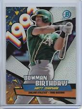 2018 Bowman Matt Chapman Chrome Bowman Birthdays Insert Card