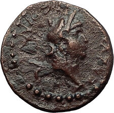 NERO 54AD Iconium in Lycaonia Perseus Medusa Slayer Ancient Roman Coin i60717